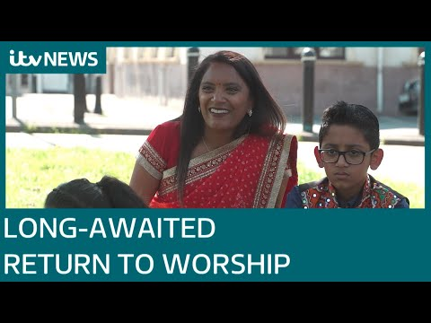 Faith communities return to places of worship after lockdown
