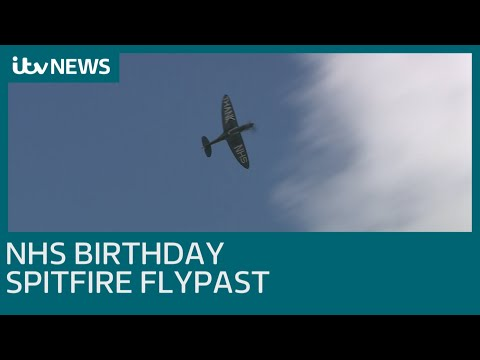 NHS 72nd birthday spitfire flypast