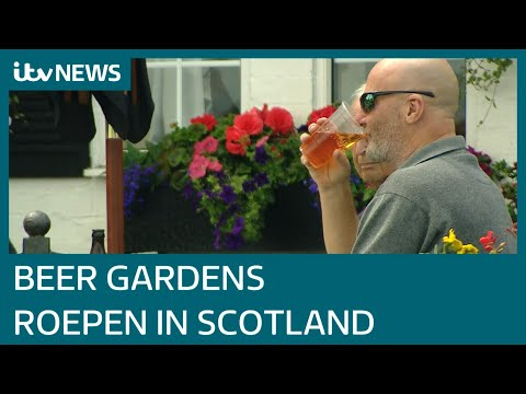 Scotland's pub beer gardens reopen as lockdown eases