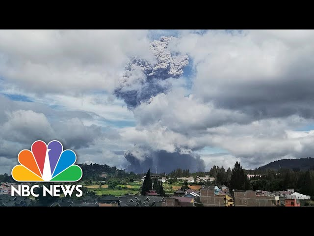 Indonesia's Mount Sinabung Spews Giant Ash Cloud High Into The Sky | NBC News NOW