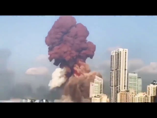 Beirut Lebanon Massive Explosion   Before and After Footage