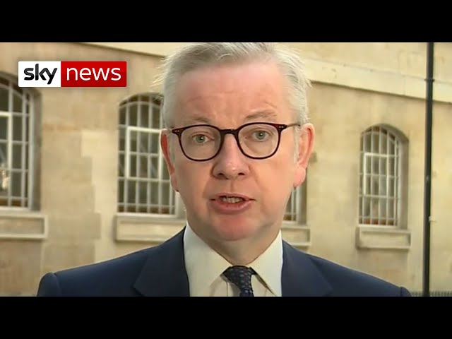COVID-19: 'Work from home' says Gove as restrictions are tightened to try and control the virus
