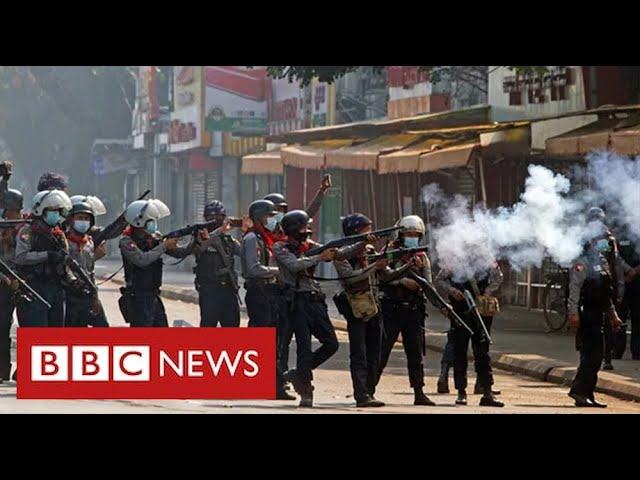 "Army in Myanmar shoot dead ""at least 18 peaceful protesters"""