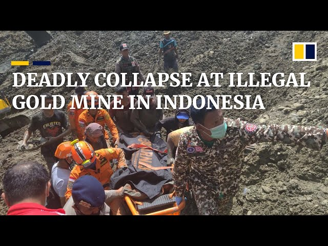 Illegal gold mine collapse in Indonesia kills at least six and leaves one missing