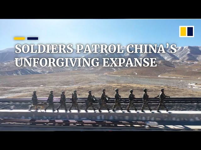 Desolate army patrols along China's Qinghai-Tibet Railway and Highway