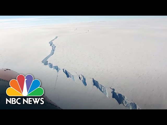 Huge Iceberg Breaks Off Antarctic Ice Shelf | NBC News