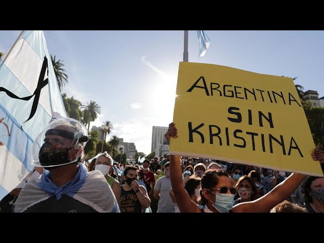 ousands of Argentinians take to streets to protest 'VIP vaccinations' scandal