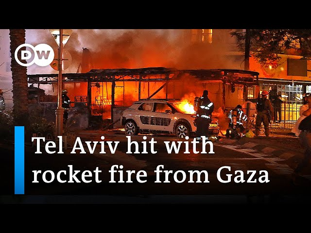 Hamas has launched rockets at Tel Aviv after a major Israeli airstrike in Gaza